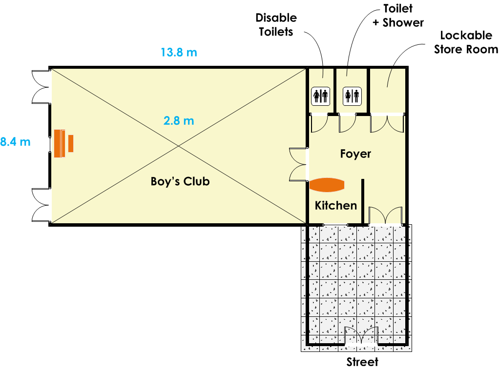 St Gabriel's Hall - Boy's Club Floor Plan